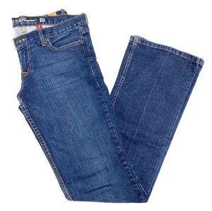Guess Foxy Flare Dark Wash Denim Jeans Stretch 28
